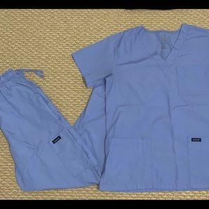 Cyan Blue Medical Scrubs Set